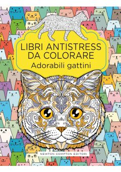 Libri antistress da colorare. Adorabili gattini