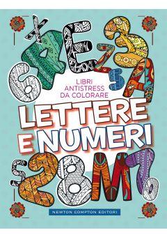 Libri antistress da colorare. Lettere e numeri