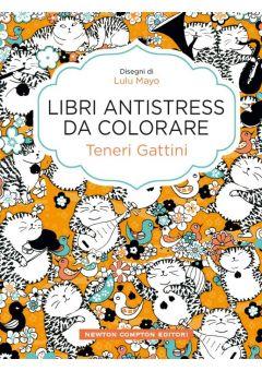 Libri antistress da colorare. Teneri gattini